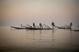 Fishermen on Inle Lake in the Early Morning Photographic Print by Tino Soriano
