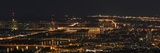A Panoramic View of Vienna, Austria at Night Fotografisk tryk af Babak Tafreshi