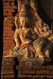A Relief Carving at One of the Shwe Inn Thein Pagodas Photographic Print by Tino Soriano