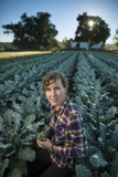 A Vegetable Farmer on Her Farm in Iowa Photographic Print by Jim Richardson