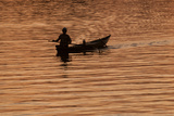 A Fisherman on the Hoi an River at Daybreak Photographic Print by Karen Kasmauski