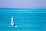 Sail Boaters Enjoying the Turquoise Waters of Grace Bay, in the Turks and Caicos Islands Photographic Print by Mike Theiss