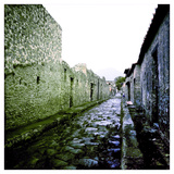 A Street in the Roman Town of Pompeii, Italy Photographic Print by Skip Brown
