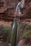 Hikers Looking at Ribbon Falls in the Grand Canyon Photographic Print by Stephen Alvarez