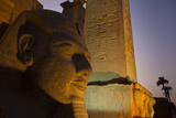 Head of Ramses Ll at Entrance to Luxor Temple Photographic Print by Michael Melford