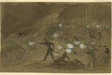 The Louisiana Tigers Attack the Union's Xi Corps During the Battle of Gettysburg Photographic Print by  Library Of Congress