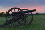 A Cannon at Sunset at Manassas National Battlefield Photographic Print by Jeff Mauritzen