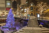 A Christmas Tree on North Michigan Ave in the Magnificent Mile Photographic Print by Richard Nowitz