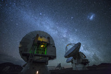 Three of the Giant Dishes Forming the Atacama Large Millimeter/Submillimeter Array, Alma Photographic Print by Dave Yoder