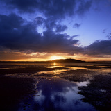 Sunset over Scrabo Tower on Strangford Lough Photographic Print by Chris Hill