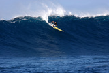 Garrett Mcnamara, Big Wave Surfer, Surfing Down a Wave Face at Jaws Photographic Print by Patrick McFeeley