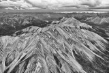 Aerial of Striped Mountain in North Yukon, Mackenzie Mountains Photographic Print by Peter Mather