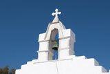 The Bell Tower of a White-Washed Greek Orthodox Church Photographic Print by Sergio Pitamitz