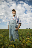 A Soybean Farmer on His Farm in Iowa Photographic Print by Jim Richardson