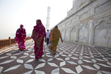 Visitors Approach a Minaret Photographic Print by Michael Melford
