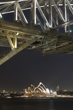 The Sydney Opera House and Harbour Bridge by Night Photographic Print by Sergio Pitamitz