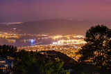 Volos at Night as Seen from Mount Pelion Photographic Print by Babak Tafreshi