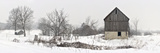 An Old Barn on Howe Island in Winter Fotografisk tryk af Raul Touzon