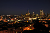 Nightscape of San Francisco's Financial District Photographic Print by Jim Sugar