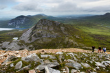 Walkers on Errigal Mountain, Donegal, Ireland Photographic Print by Chris Hill