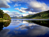 Reflections on Kylemore Middle Lake in Connemara Photographic Print by Chris Hill