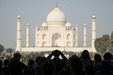 Crowds of Tourists at the Taj Mahal, Agra, India Photographic Print by Michael Melford
