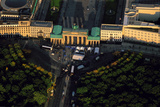 An Aerial View of the Brandenburg Gate at Sunset Photographic Print by Marcello Bertinetti