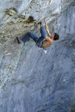 Looking Down Upon a Man Rock Climbing Photographic Print by Keith Ladzinski