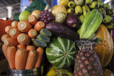 Fruits and Vegetables at the Central Market in Cusco Photographic Print by Beth Wald
