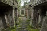 Detail of a Small Temple Near Angkor Wat Photographic Print by Scott S. Warren