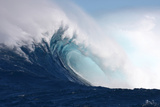 Wave, Side View of a Breaking Barrel Photographic Print by Patrick McFeeley