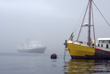 Fog Envelops a Fishing Boat Photographic Print by Gordon Wiltsie