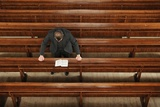 The Minister in Prayer at the Church of Scotland Photographic Print by Jim Richardson