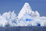 Blue Icebergs Off the Coast of the Argentine Islands Photographic Print by Ira Meyer