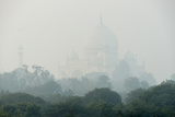 The Taj Mahal on a Foggy Day Photographic Print by Michael Melford