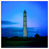 The Washington Monument with Scaffolding at Dusk Photographic Print by Skip Brown