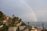 A Rainbow over the Neighborhood of Garavan, Menton Photographic Print by Sergio Pitamitz