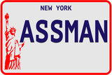 Assman Plate Wall Sign