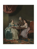 Mr and Mrs Dalton and their Niece Mary De Heulle Giclee Print by Dante Gabriel Rossetti