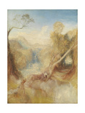 The Death of Actaeon, with a Distant View of Montjovet, Val D'Aosta Giclee Print by Joseph Mallord William Turner