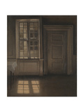 Interior, Sunlight on the Floor Impression giclée par Vilhelm Hammershoi