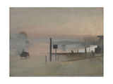 The Quiet River: the Thames at Chiswick Giclee Print by Victor Pasmore