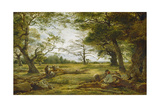 Windsor Forest ('Wood-Cutting in Windsor Forest') Giclee Print by John Linnell