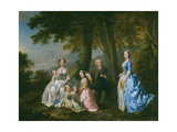 Samuel Richardson, the Novelist (1684-1761), Seated, Surrounded by His Second Family Giclee Print by Francis Hayman