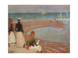 The Beach at Walberswick Giclee Print by Richard Parkes Bonington