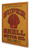 Shell - Adopt the Golden Standard 1925 Wood Sign