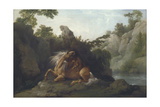 Horse Devoured by a Lion Giclee Print by George Stubbs