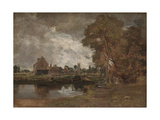 Dedham Lock and Mill Giclee Print by John Constable