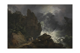An Avalanche in the Alps Giclee Print by Philip James De Loutherbourg