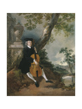 The Rev. John Chafy Playing the Violoncello in a Landscape Giclee Print by Thomas Gainsborough